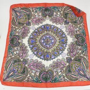 Vintage Colorful Bright Silk Mandala Scarf